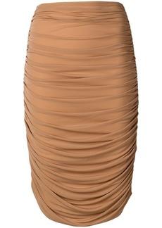 Norma Kamali high-waisted skirt
