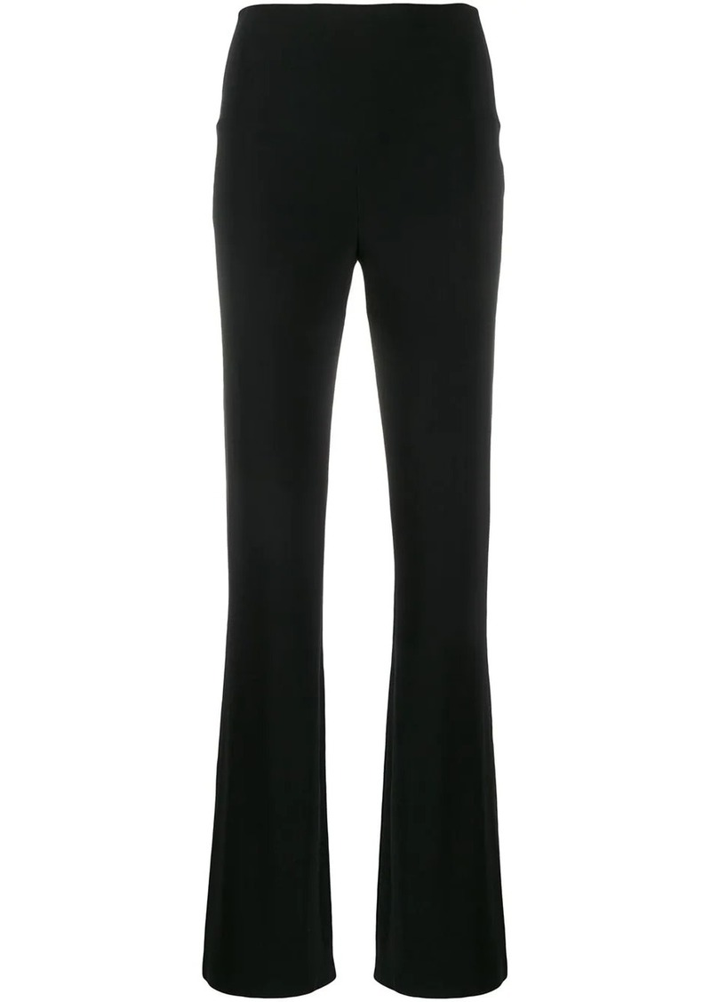 Norma Kamali high waisted straight-leg trousers