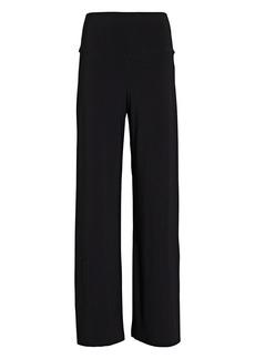 Norma Kamali Jersey Straight-Leg Pants