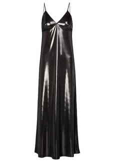 Norma Kamali Lamé slip dress