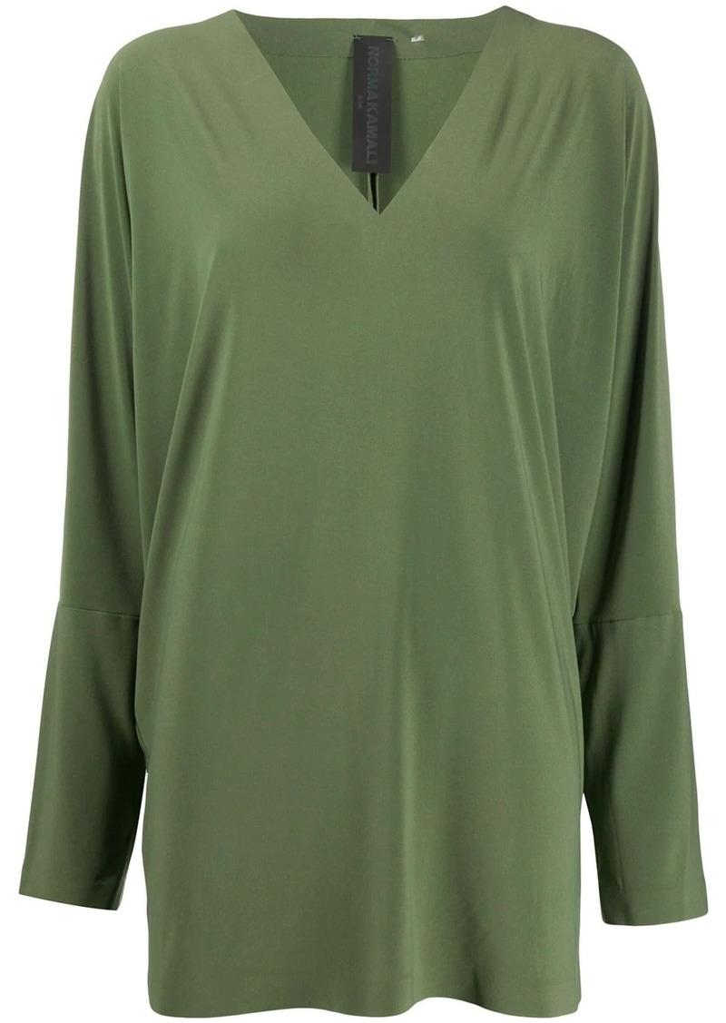 Norma Kamali long sleeve blouse