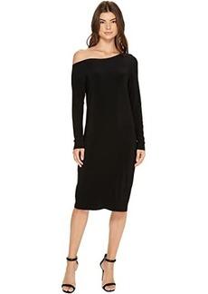 Norma Kamali Long Sleeve Drop Shoulder Dress