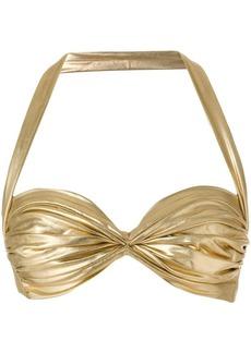 Norma Kamali metallic bralette top