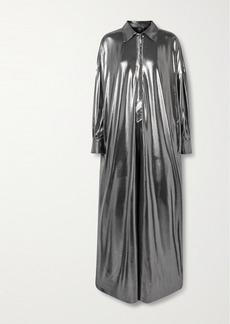 Norma Kamali Metallic Stretch-jersey Jumpsuit