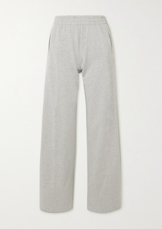 Norma Kamali Metallic Striped Stretch-cotton Jersey Track Pants