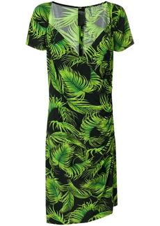 Norma Kamali mid-length printed dress