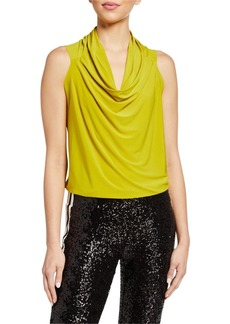 Norma Kamali Neeta Cowl-Neck Sleeveless Top
