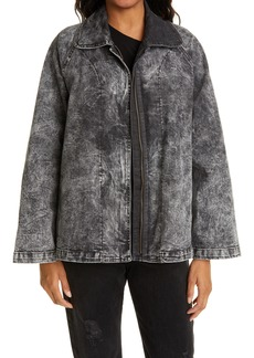 Norma Kamali Acid Wash Denim Jacket