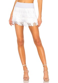 Norma Kamali All Over Fringe Shorts