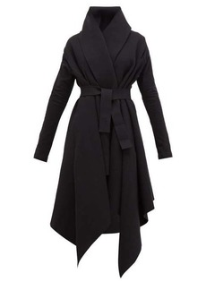 Norma Kamali Asymmetric cotton-blend coat