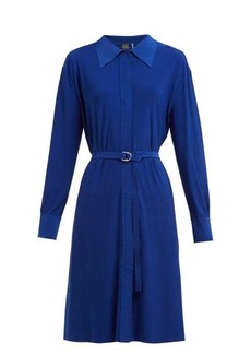 Norma Kamali Belted jersey shirtdress