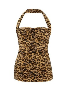 Norma Kamali Bill Mio leopard-print swimsuit