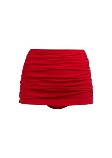 Norma Kamali Bill ruched high-rise bikini briefs