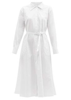 Norma Kamali Boyfriend cotton-poplin midi shirt dress