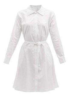 Norma Kamali Boyfriend cotton-poplin shirt dress