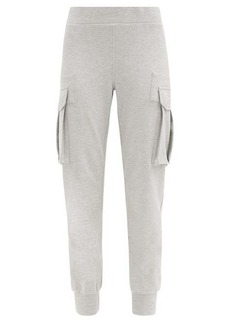 Norma Kamali Cargo-pocket cotton-blend jersey track pants