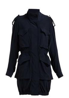 Norma Kamali Cargo pocket stretch-jersey dress
