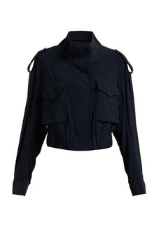 Norma Kamali Cargo pocket stretch-jersey jacket