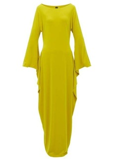 Norma Kamali Cutout-sleeve maxi dress
