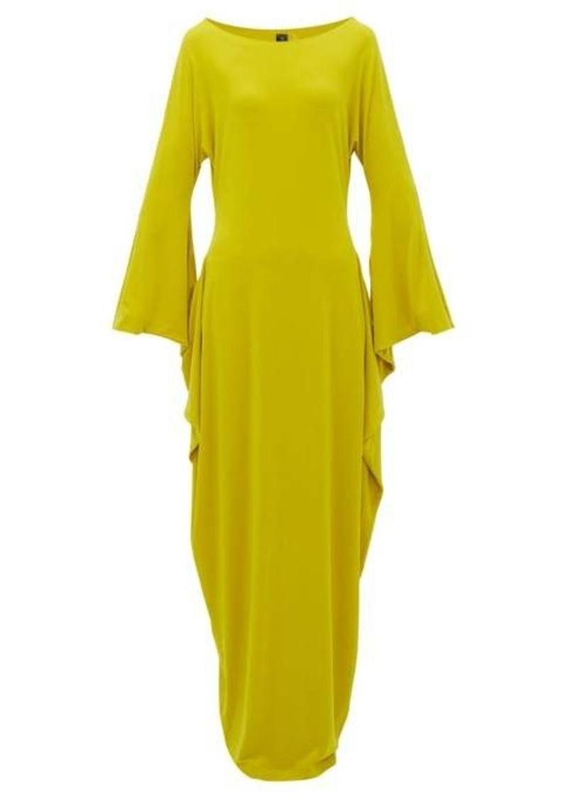 Norma Kamali Cutout-sleeve maxi dress