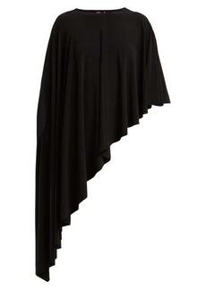 Norma Kamali Diagonal stretch-jersey shawl