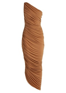 Norma Kamali Diana one-shoulder jersey dress