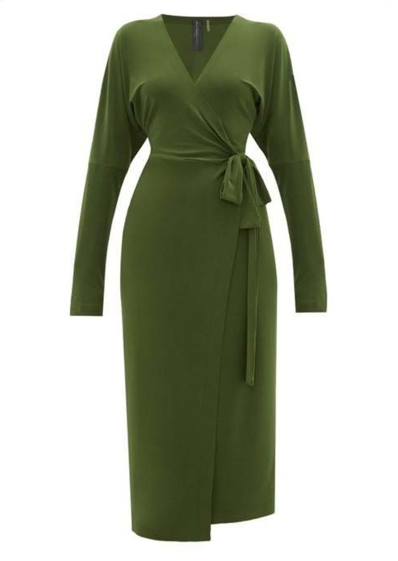 Norma Kamali Dolman-sleeve wrap dress