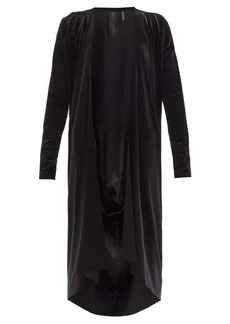 Norma Kamali Draped-back velvet cardigan