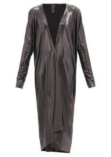 Norma Kamali Draped metallic-jersey midi cardigan
