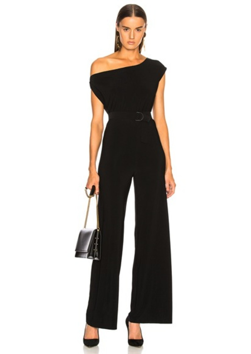 Norma Kamali Drop Shoulder Jumpsuit