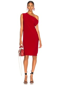 Norma Kamali Drop Shoulder Knee Length Dress