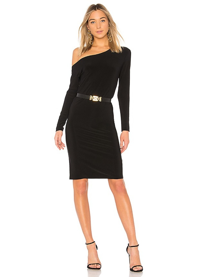 Norma Kamali Drop Shoulder Long Sleeve Dress