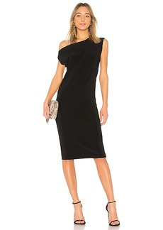 Norma Kamali Drop Shoulder Sleeveless Dress