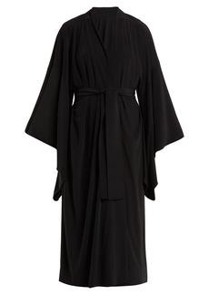 Norma Kamali Exaggerated kimono-sleeve robe