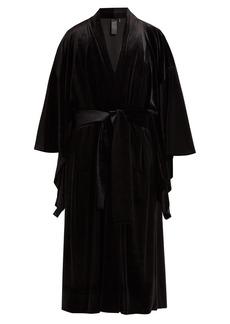 Norma Kamali Exaggerated-sleeve velvet robe