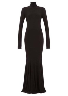 Norma Kamali Fishtail jersey dress