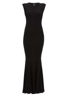 Norma Kamali Fishtail jersey maxi dress