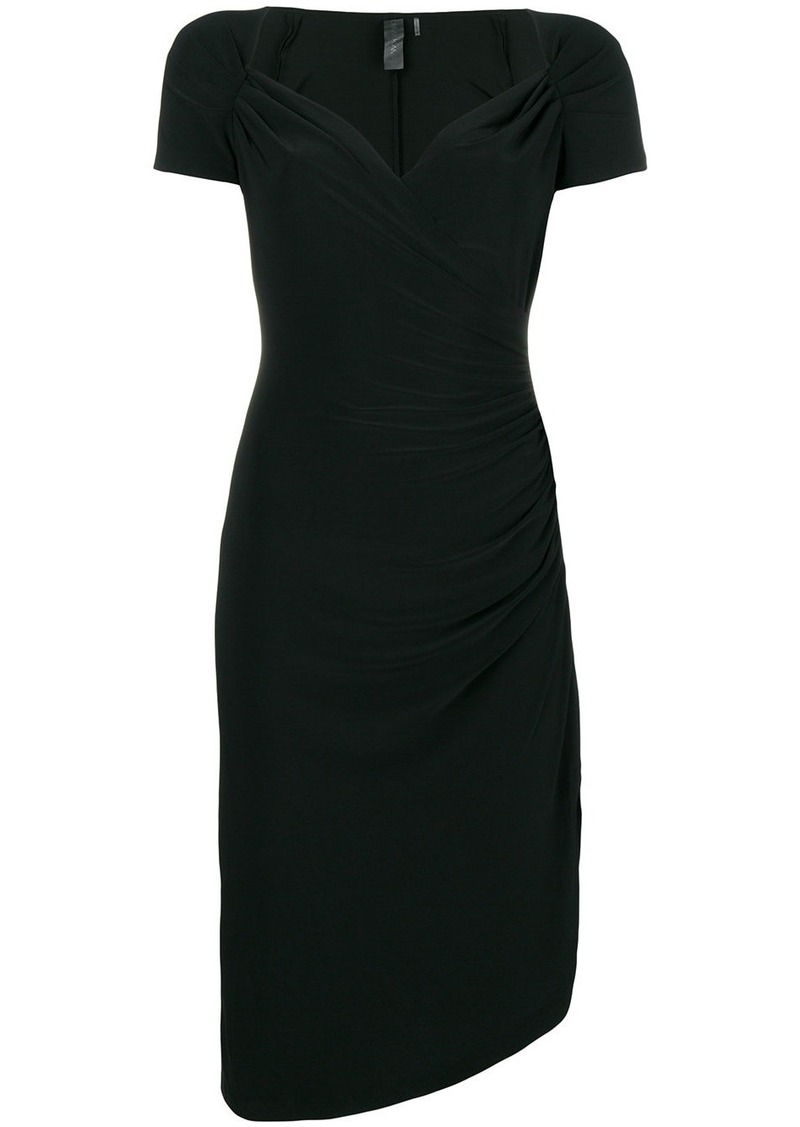 Norma Kamali classic fitted midi dress