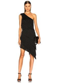 Norma Kamali for FWRD Fringe One Shoulder Dress