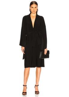 Norma Kamali for FWRD Midcalf Wrap Dress