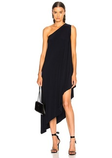 Norma Kamali for FWRD One Shoulder Diagonal Dress