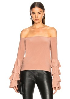 Norma Kamali for FWRD Ruffle Off The Shoulder Top