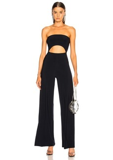 Norma Kamali for FWRD Strapless Cut Out Jumpsuit