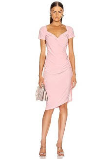 Norma Kamali for FWRD Sweetheart Side Drape Dress