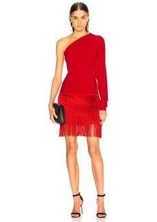 Norma Kamali Fringe All In One Dress