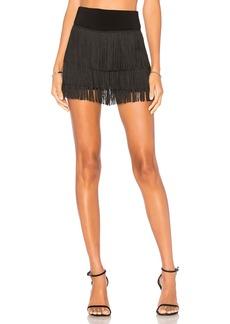 Norma Kamali Fringe All Over Shorts