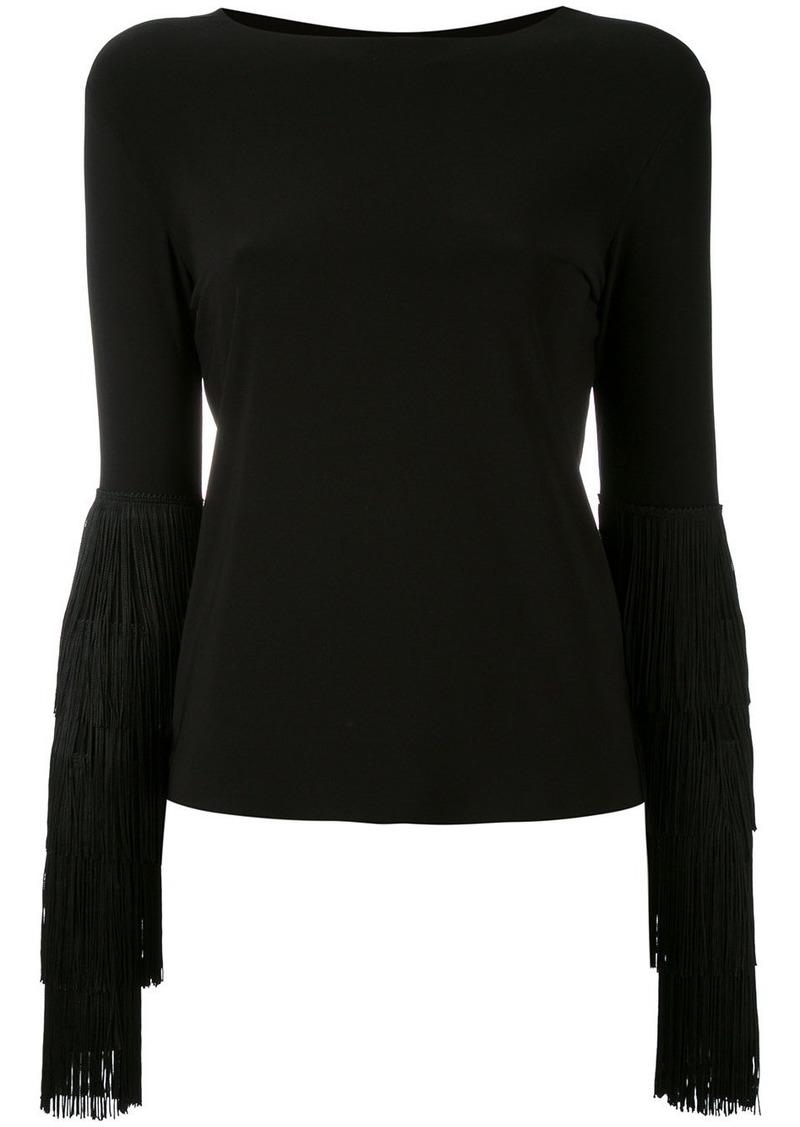 Norma Kamali fringed sleeve blouse