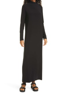 Norma Kamali Go Turtleneck Long Sleeve Maxi Dress