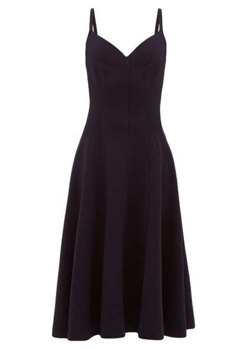 Norma Kamali Grace raw-seam panelled midi dress