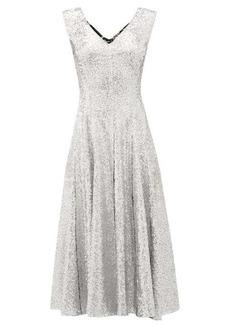 Norma Kamali Grace sequinned midi dress